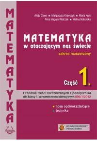 FAKULTETY Matematyka w otaczającym nas świecie cz.1. Zakres rozszerzonyfff